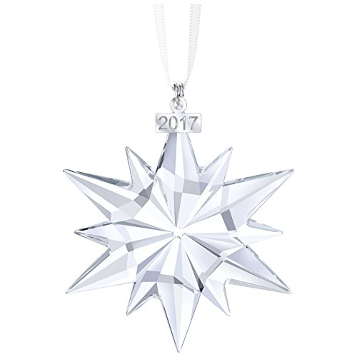 Swarovski Christmas ornament, annual edition 2017 figurine, crystal, transparent, 6.1 x 0.9 x 7.7 cm, 1 Unit