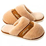 Koknwoa Women's Plush Fluffy Memory Foam Slip On House Slippers Cozy Warm Winter House Shoes Soft Comfy Anti-Skid Indoor/Outdoor