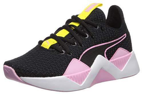 PUMA Kids' Insite formstrip Sneaker, Black-Pale Pink-Blazing Yellow, 4 M US Big Kid