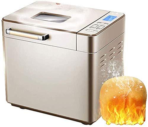 Máquina de pan programable automático , máquina de pan de bricolaje para el hogar, máquina de amasadora automática Máquina de amasado multifunción Tostador de pan inteligente 25 Menú / 13H Tie