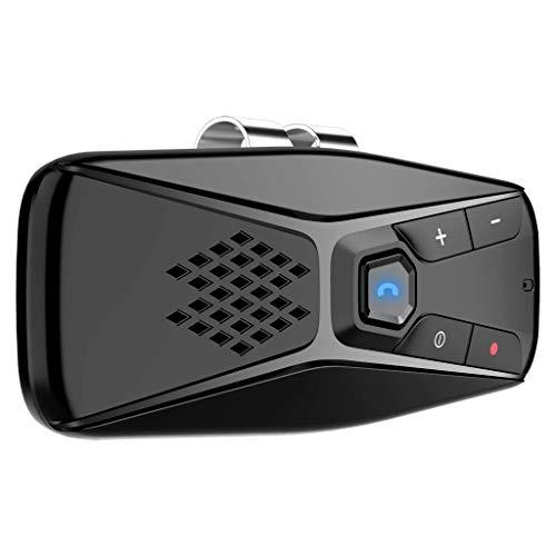Bascar Parasol para coche, MP3, adaptador de audio, manos libres, reproductor de música inalámbrico BT5.0 para coche, MP3, manos libres con gran volumen