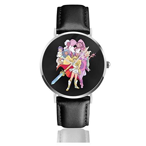 She-Ra Pri-nce Reloj Deportivo Impermeable de Cuarzo 38 mm Reloj de Mujer Hombre Impermeable