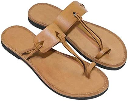 online shop New Men Soft Sandals Retro Superior Summer Sand Leather Style Roman Shoes