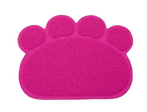 Diyafas Forma de Pata PVC Manta de Estera del Perrito Gato Antideslizante Alfombra del Plato del Alimento de Animal Doméstico