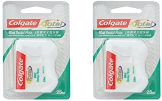New Colgate Total Mint Dental Floss, 25m./27yd.- 2pack