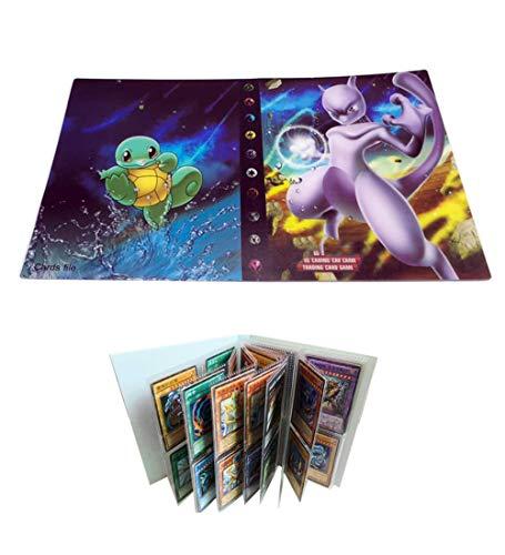 UHIPPO Porta Carte collezionabili per Carte Pokemon Raccoglitore, 120 copertine, Album di Carte Libro Best Protection Ex Box (MewTwo)