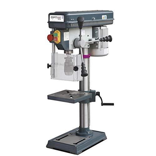 Optimum Tischbohrmaschine OPTIdrill B 16, Bohrtisch dreh- und neigbar, Säulendurchmesser: 60 mm, 3008161SET