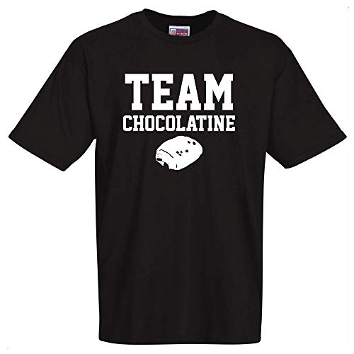 stylx design T-Shirt Noir Team CHOCOLATINE