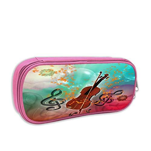Violine mit Violinenbogen, großes Fassungsvermögen, Federmäppchen für Schüler, Schreibwaren, Aufbewahrungstasche, Kosmetiktasche