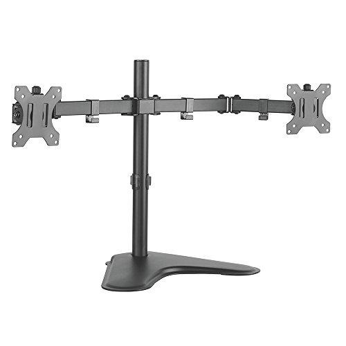 Suporte Articulado de Mesa para Dois Monitores, ELG, T1224N, Preto