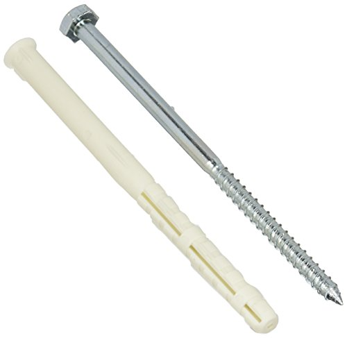 COFAN 07751014–Pack von 50Stück Dübel mit Sechskantschraube (Nylon, 10x 140mm