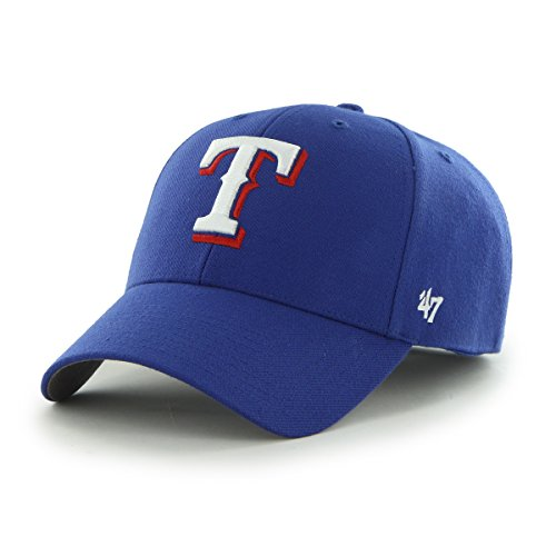 MLB Texas Rangers Gorra estructurada de mezcla de lana bordada - B-MVP25WBV-HM-OSF,...