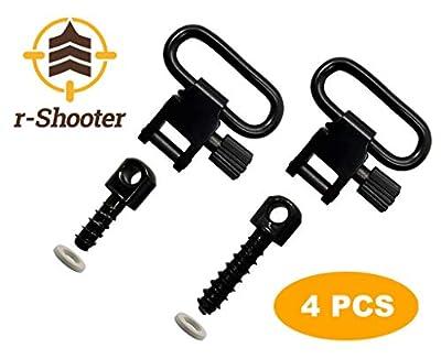 r-Shooter Quick Detach Swivels Screw   Short & Long Sling Swivel Studs   Studs Base   1-Inch Loop