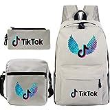 TIKTOK - Mochila y bolsas de viaje para niños y niñas Blanc Crèmea 11*6*16(in)