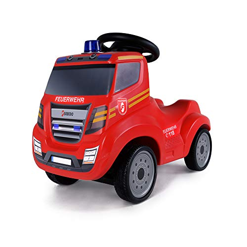 Ferbedo 054733 Truck Fire, rot, Rutschfahrzeug, Kinderauto Rutscher, Raut