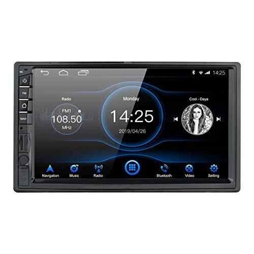 IW.HLMF 7 Pulgadas 2DIN Android 8.1 Radio de Coche Unidad Principal estéreo Pantalla táctil Navegación GPS Bluetooth/Am/FM/RDS/USB Quad Core 1G RAM + 16G ROM Mirror Link Control del Volante Reproduc