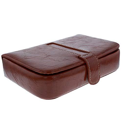 Mele & Co Manschettenknopf-Box, PU-Leder, 16 x 16 x 4 cm, Braun