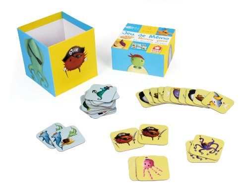 House of Toys - 772502 - Jeu de Société - Memo Poissons Pirates