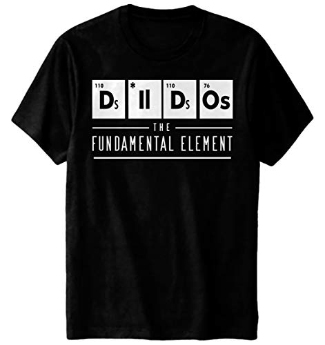 Dildos Glow in The Dark T-Shirt The Fundamental Element Chemistry Funny Black