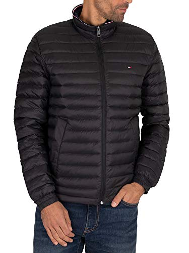 Tommy Hilfiger Heren Core Packable donsjack, Zwart