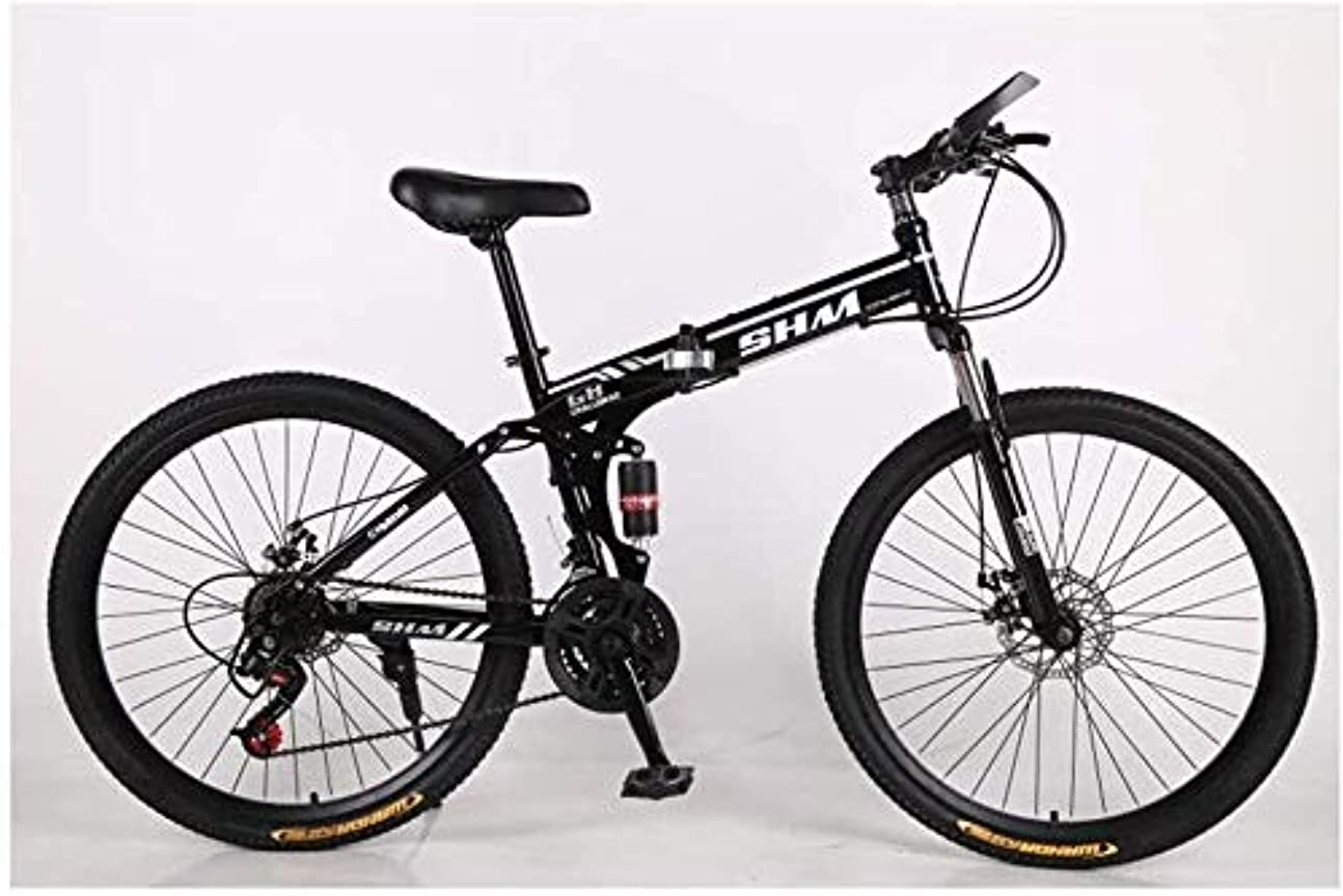 限定大胆不敵地下鉄Luckya アウトドアスポーツバイク/自転車折りたたみ折りたたみマウンテンバイクアダルト可変速自転車26インチクロスカントリー自転車ショックアブソーバーブラックディスクブレーキ マウンテンバイク