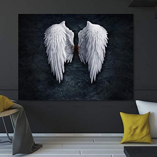 Home + Leinwand Gemälde Mural Leinwand-Malerei Wohnzimmer-Dekoration Maison-Wand-Kunst-Dekor-Quadros Decoracion Wohnaccessoires Tableau Leinwandbild (Size (Inch) : 40X60cm No Frame)