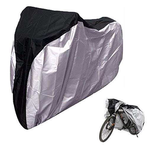 WSWJJXB Bicycle Waterproof Cover Snow Bike Outdoor Dust Cover with Keyhole Cover for Mountain Bike Road Bike (Size : M)