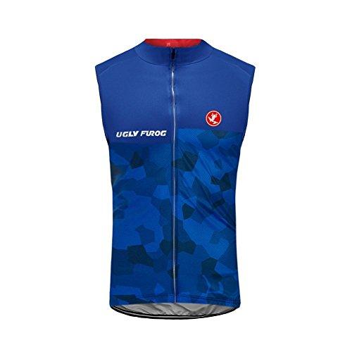 Uglyfrog Chalecos Ciclismo 2018 Primavera/Verano Moda Hombre Sin Mangas Jersey Ropa Bicicleta Transpirable Secado Rápido MJZ02