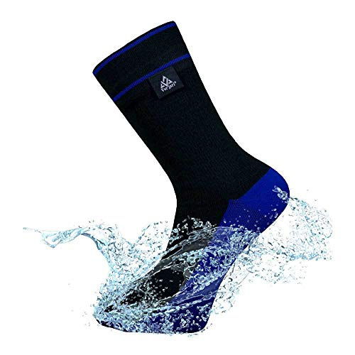 VER JARI Calcetines Impermeables Verjari | Interior Coolmax | Negro y Azul (Negro y Azul, 43-46)