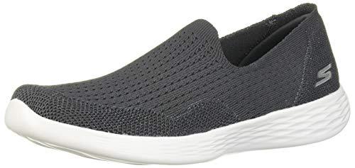 Skechers Women's You DEFINE-15832 Sneaker, Charcoal, 8.5 M US