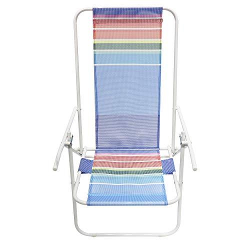Homecall Sedia pieghevole da spiaggia con schienale regolabile colore arcobaleno