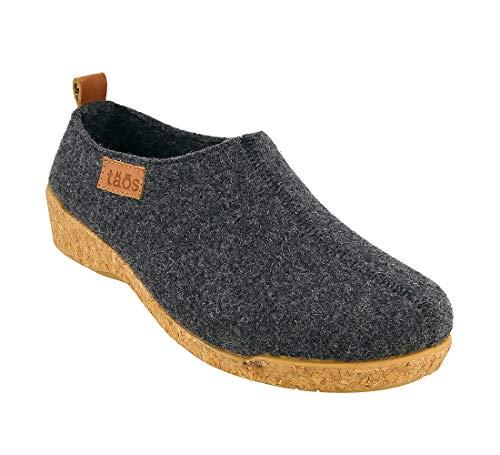 Taos Footwear Women's Wonderwool Charcoal Clog 8-8.5 M US