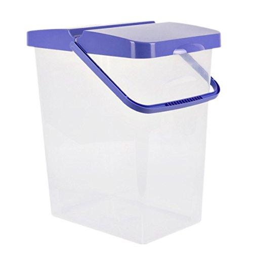25 L Behälter Waschpulver Futterbehälter Unibox Deckel Aufbewahrungsbox blau