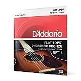 d'Addario EFT17 Set Corde Acustica Flat Tops Phosphor, Bronzo