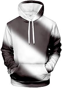 WEIYI BO MAOYI - Sudadera unisex con capucha en 3D, diseño de rayas 1 XXXL