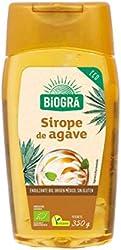Biográ Endulzante Natural Sirope de Ágave, Envase Antigoteo, 350 Gramos