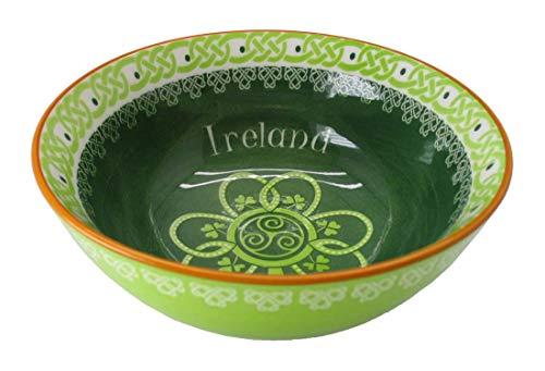 Royal Tara Shamrock Spiral Ireland 14Cm Bowl with Green Yellow Celtic Design