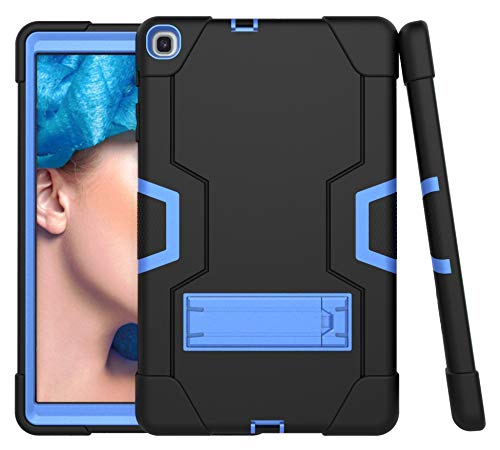 Cantis Galaxy Tab A 10.1 Case 2019 Model(SM-T510/T515),Slim Heavy Duty Shockproof Rugged Case High Impact Full Body Protective Case for Samsung Galaxy Tab A 10.1 Inch 2019 Release (Black+Blue)