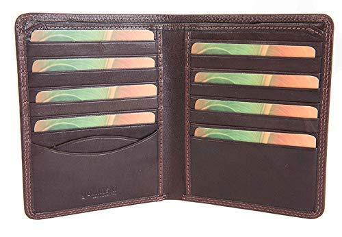 Golunski Eiche Qualität Herren Brieftasche Portemonnaie 16 Kartenschlitze 3 Farben Zur Auswahl - Verpacktes Geschenk 7-711 - Hellbraun, M