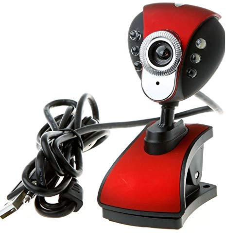 CHENALIFE USB Webcam Built-in Microphone Manual Focus Adjustment 360-degree Rotation Video Teaching HD Webcam Computer Video Voice Intercom Suitable for Home Computer Equipment