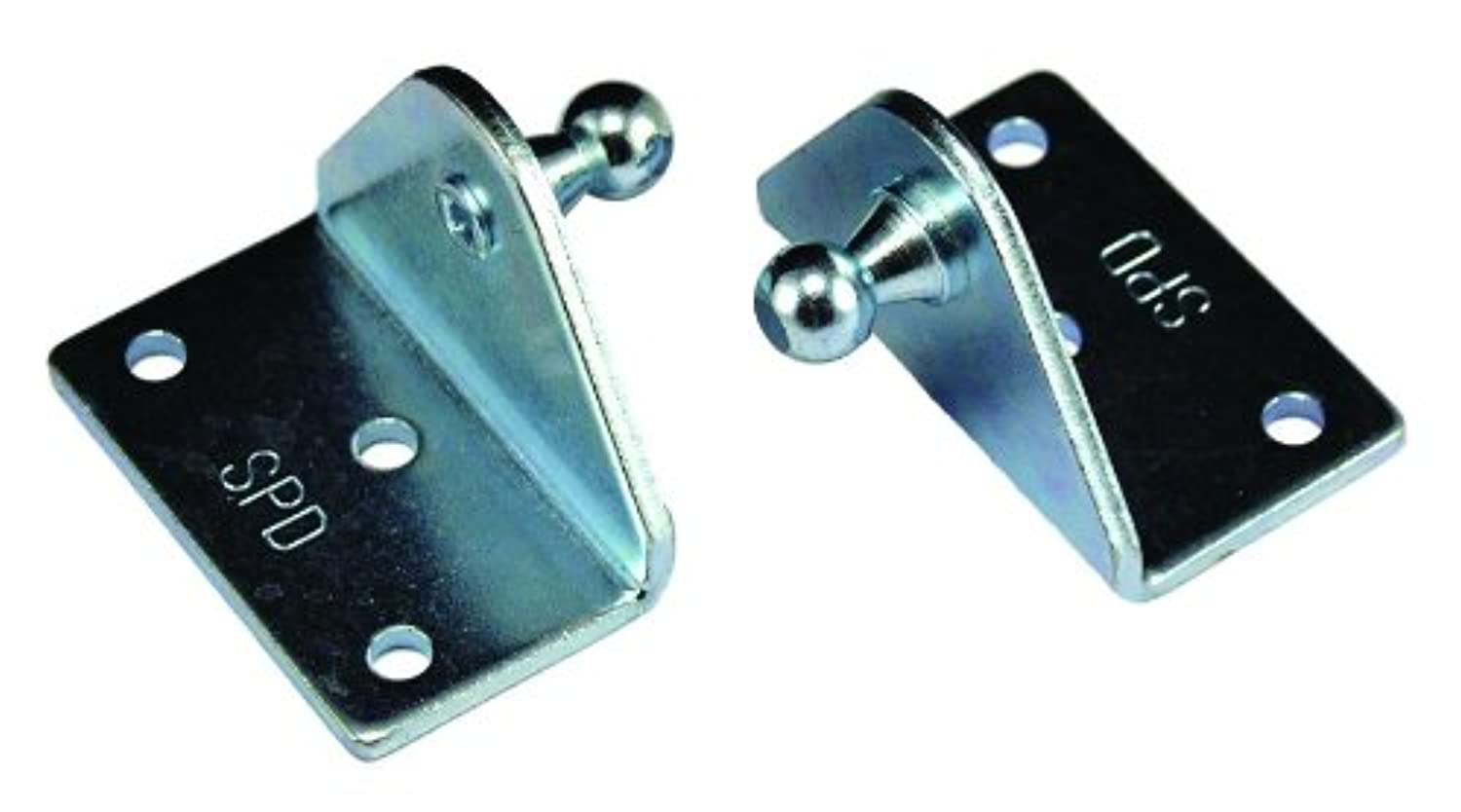 JR Products BR-1060 Angled Gas Spring Mounting Bracket 10mm, Pack of 2