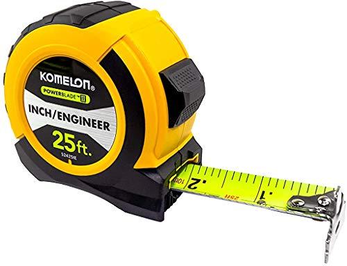 Komelon 52425IE; 25' x 1.06' Powerblade II' Engineer Tape Measure;...