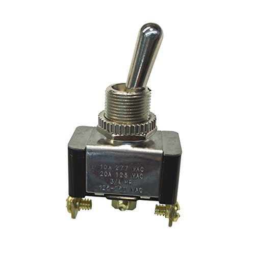 Gardner Bender GSW-12 Heavy-Duty Electrical Toggle Switch, SPDT, ON-ON, 20 A/125V AC, Screw Terminal