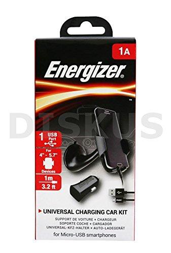 Energizer universal Soporte de coche + USB Cable + Cargador