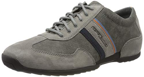 camel active Herren Space Sneaker, Grau (midgrey/dk.grey kombi 03), 44 EU