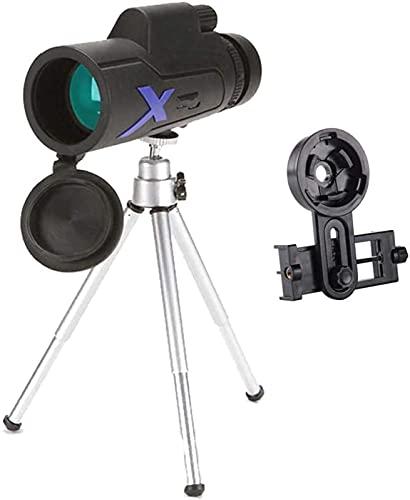 Telescopio de Alta Potencia, Telescopio monocular 12x50, Monocular Compacto portátil con Lente BAK4 Prism FMC Monocular con trípode