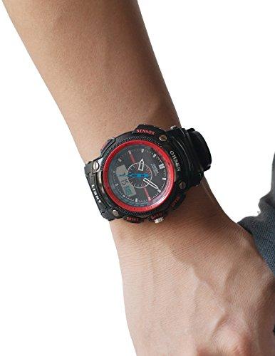 『[エーエムピーエム24]AMPM24 LCD デュアルコア ユニセックス スポーツ 日付?曜日 ストップウォッ機能付き ブラックラバーバンドウォッチOHS051』の4枚目の画像