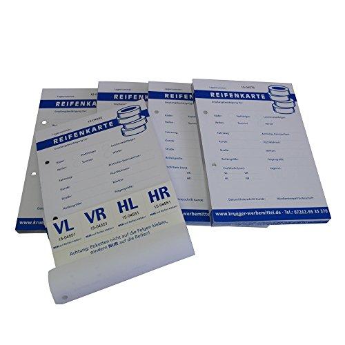 Spatzenland Reifenkarten/Einlagerungsblöcke 5-er Pack