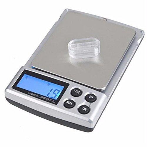 1pc 2000g x 0.1g Pocket Electronic Digitale sieraden kruiden goud edelstenen zilveren weegschalen Keukenweegschaal Balance
