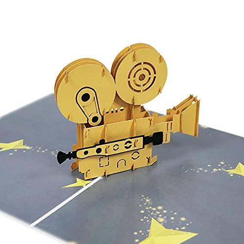 Filmkamera Pop Up Karte Grußkarte Glückwunsch Geburtstag Party Feier Kino Geburtstagskarte Glückwunschkarte - Filmkamera 065